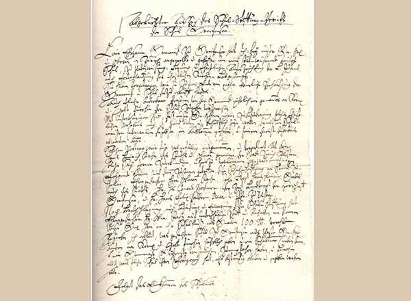 Stiftungsbrief von 1640